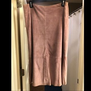 Lavender Suede Banana Republic Skirt